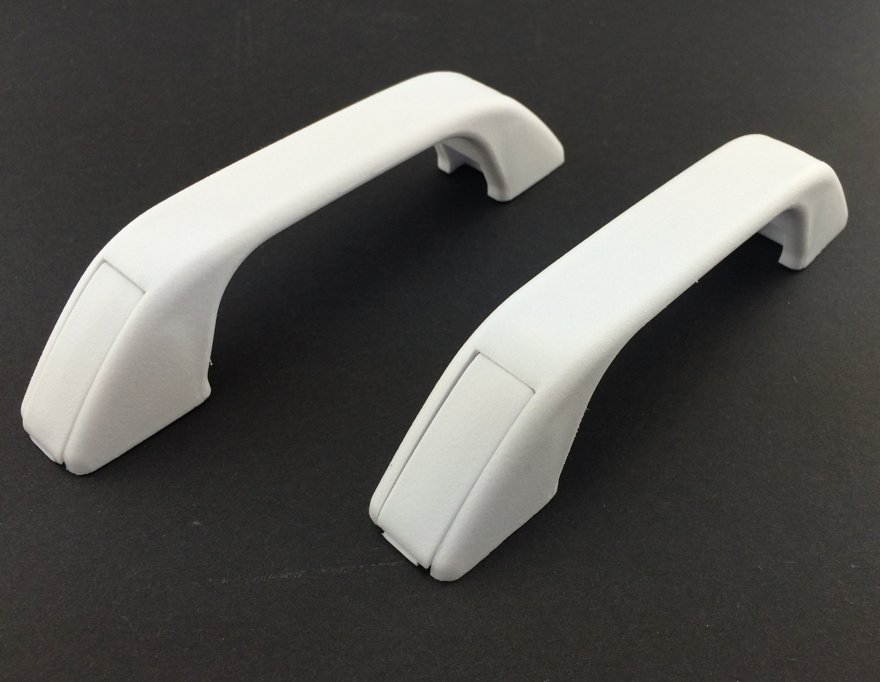 White Plastic Grab Handle Pair Transport Hardware